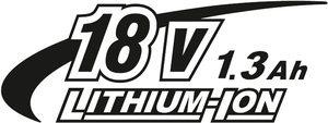 18V 1,3Ah Li-ion