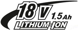 18V 1,5Ah Li-ion