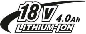 18V 4,0Ah Li-Ion