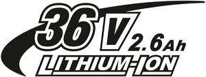36V 2,6Ah Li-Ion