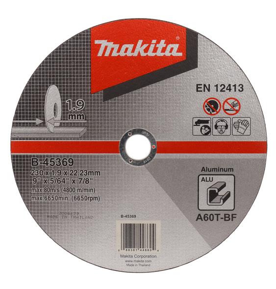Makita Trennscheibe Zu Aluminium 230X1.9X22.23mm B-45369