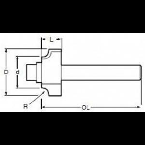 FREZ PROFIL WKLĘSŁY 6mm R=2 18,7X8mm